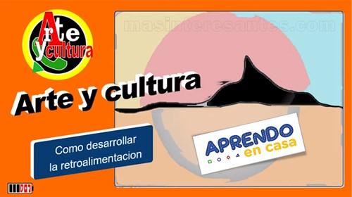como desarrollar la retroalimentación en arte y cultura