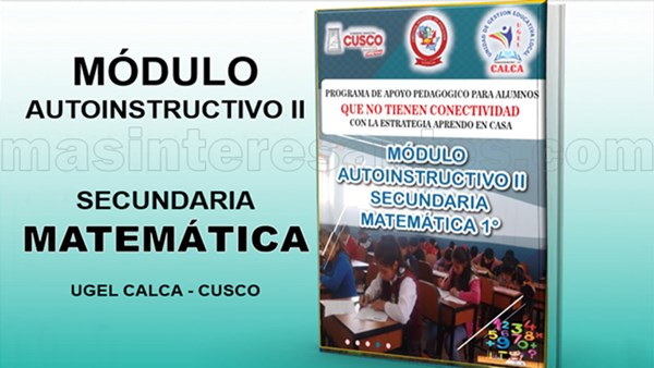 Módulo autoinstructivo II de Matemática para Secundaria