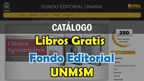 Catálogo de libros gratis editorial unmsm