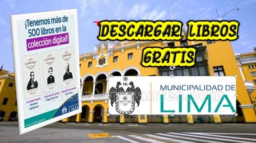 Libros gratis de la Municipalidad de Lima