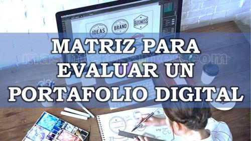 Matriz para evaluar un portafolio digital