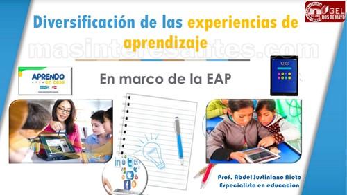 Diversificación de las experiencias de aprendizaje