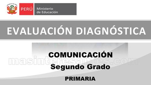 Evaluación diagnóstica de Comunicación 2do de primaria