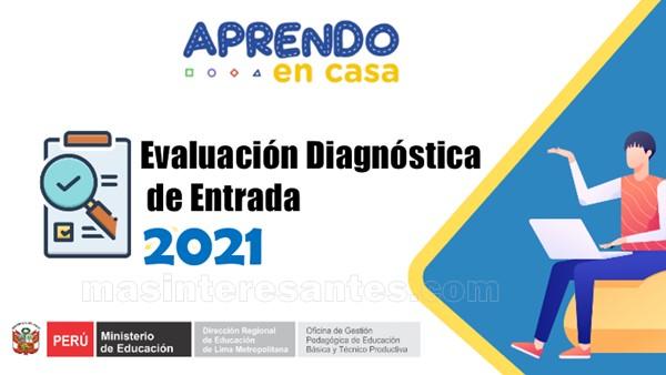 Evaluación diagnóstica de entrada