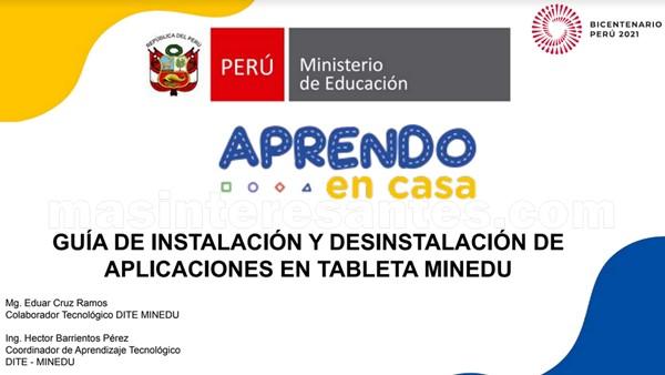 Guía de instalación y desinstalación de aplicaciones de las tabletas del MINEDU