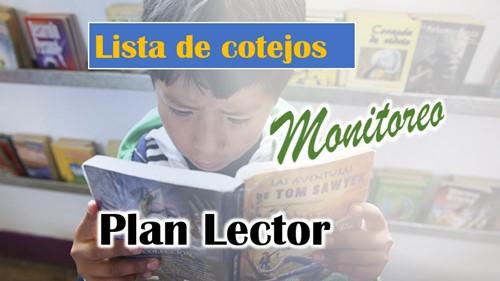 Lista de cotejos monitoreo Plan Lector