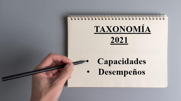 Taxonomía de capacidades y desempeños 2021