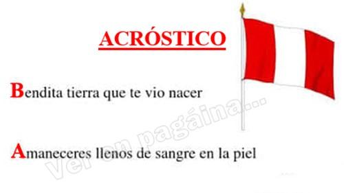 Acróstico de bandera