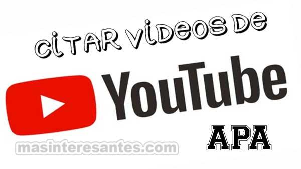 Citar vídeos de Youtube
